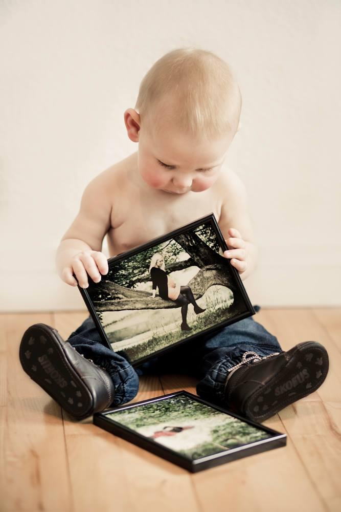 Fotografering af mor og barnet